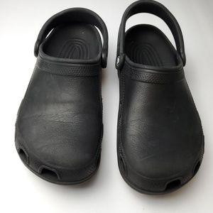 Crocs Unisex Black Slip-on Shoes mens 8 womens 10
